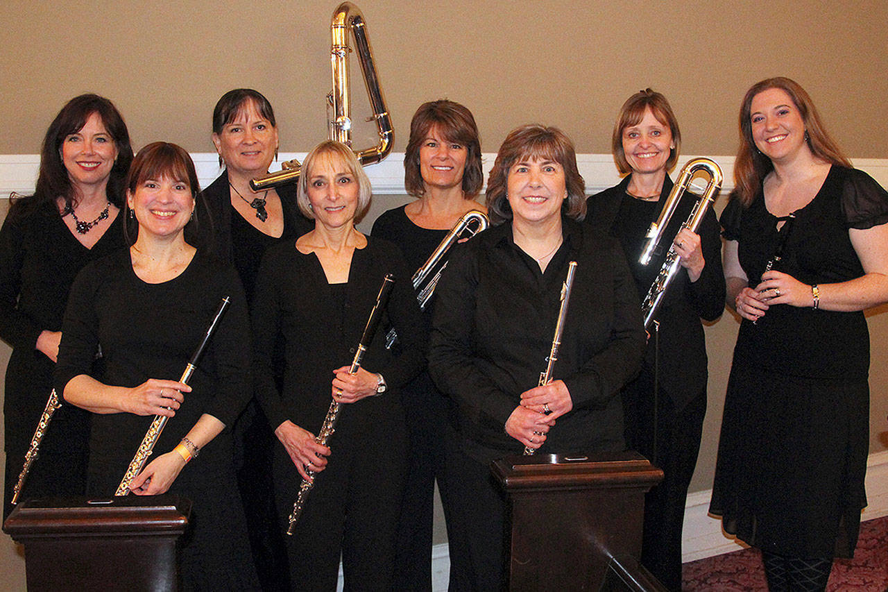 The flute ensemble Circle of Flutes will perform Feb. 24 at Our Savior's Lutheran Church in Everett. (Circle of Flutes)