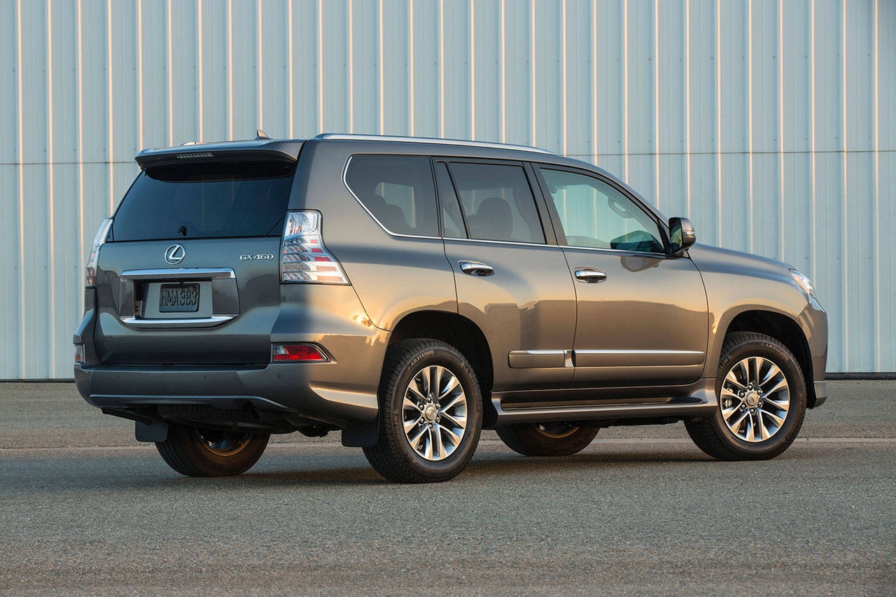 The 2019 Lexus GX 460 has a right-hinged rear door for cargo area access. (Manufacturer photo)
