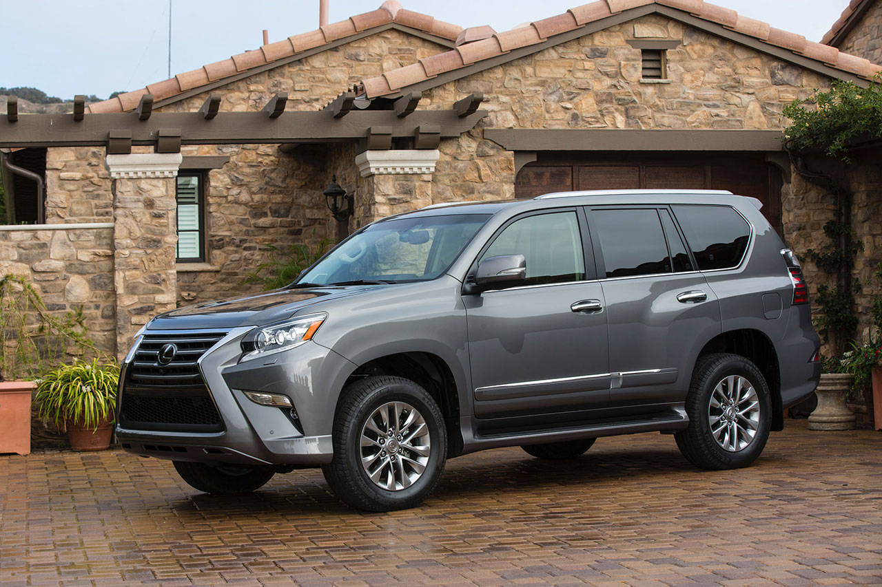 The 2019 Lexus GX 460 is powered by a V8 engine producing 301 horsepower and 329 pound-feet of torque. (Manufacturer photo)