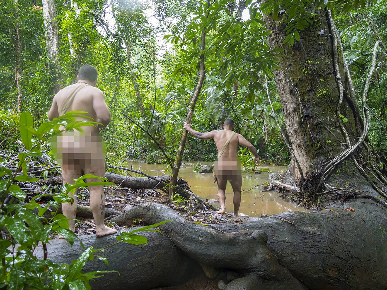 "Max Djenohan, 29, right, of Edmonds is on the show ""Naked and Afraid"" that will be aired March 10 on the Discovery Channel. (Discovery)"