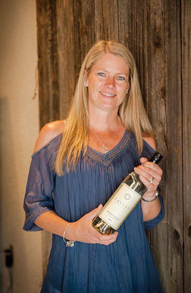 Woodinville's Lisa Callan, a product of Washington State University's winemaking program, works with the white Rhône variety picpoul for her Callan Cellars brand. (Richard Duval Images)