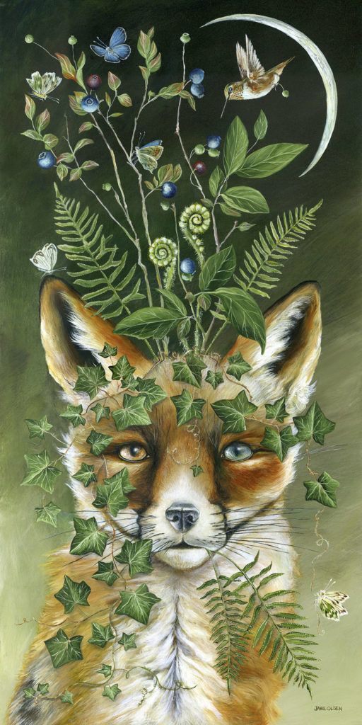 """Janie Olsen's """"Riodhr,"""" which means """"one who lives in the dwelling in the forest."""""""