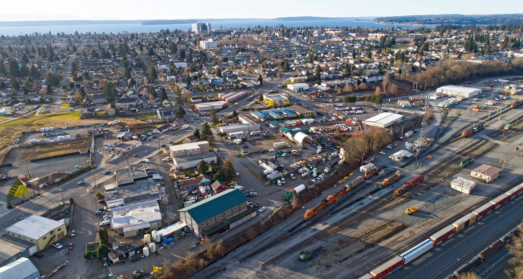 An aerial view of Everett. (Getty images)