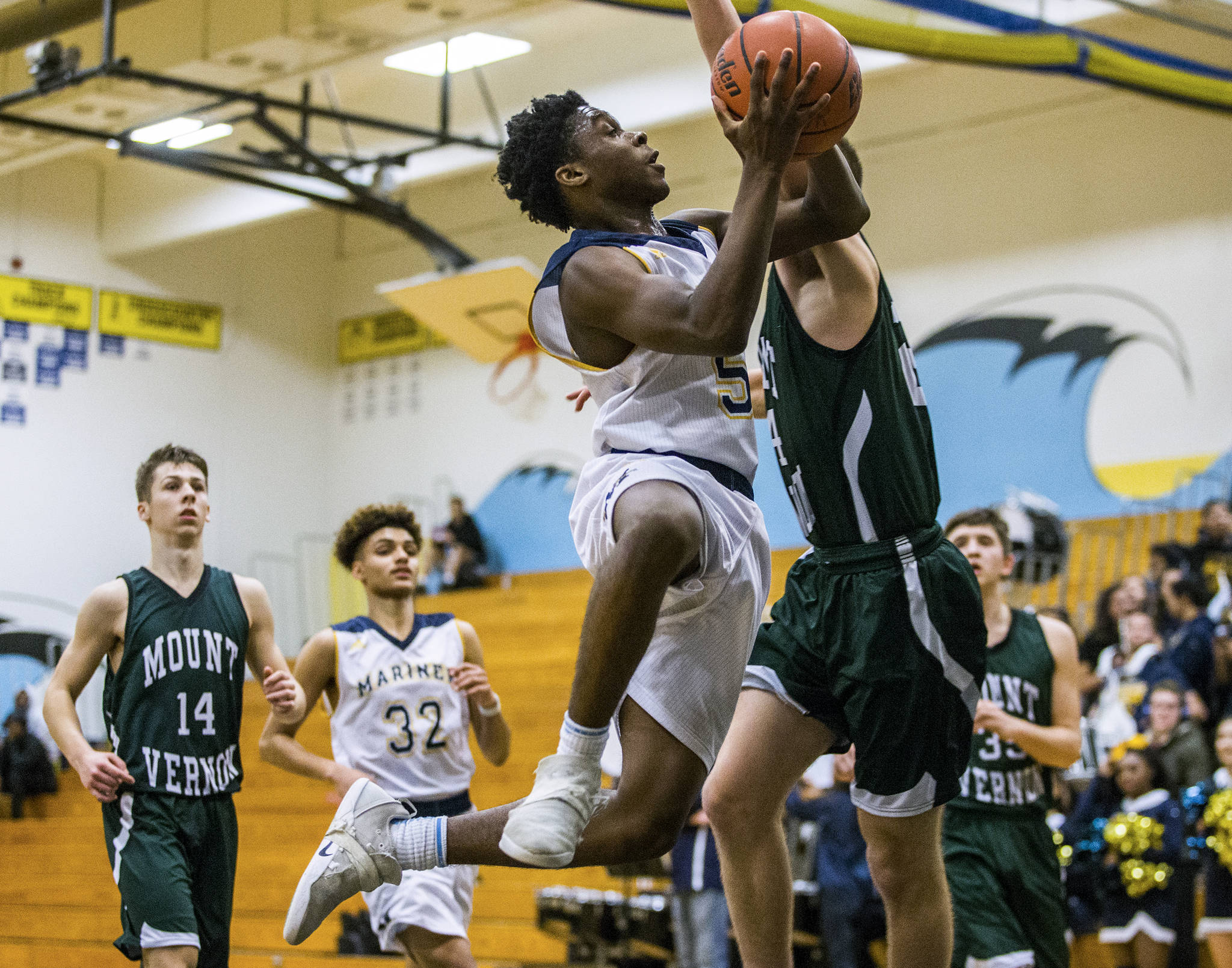 Point guard Edwin Bouah led Mariner to the state regionals and the program's first winning season since 2009. (Olivia Vanni / The Herald)