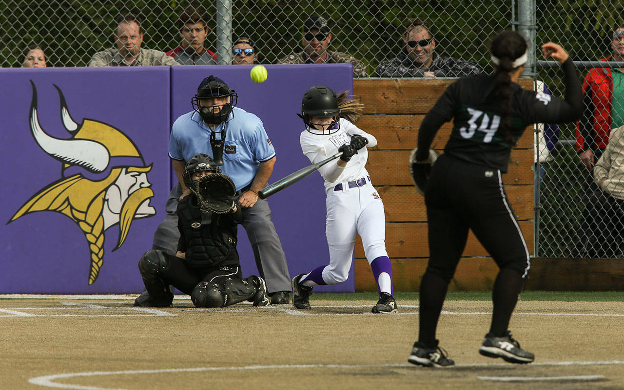 Lake Stevens handed eventual state champion Jackson its only loss last season and won at least a share of the Wesco 4A crown for the second consecutive year. Each of the past two seasons, however, the Vikings were left on the outside looking in when it came to the state tournament. (Andy Bronson / The Herald)