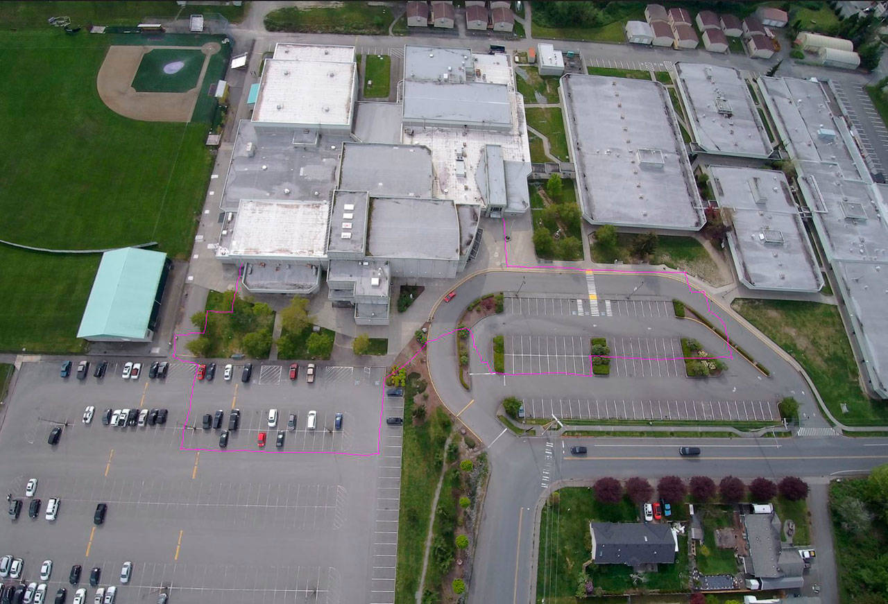 The construction of a three-story classroom building, a student hub and an athletic building are part of an $87 million high school upgrade. (Lake Stevens School District)