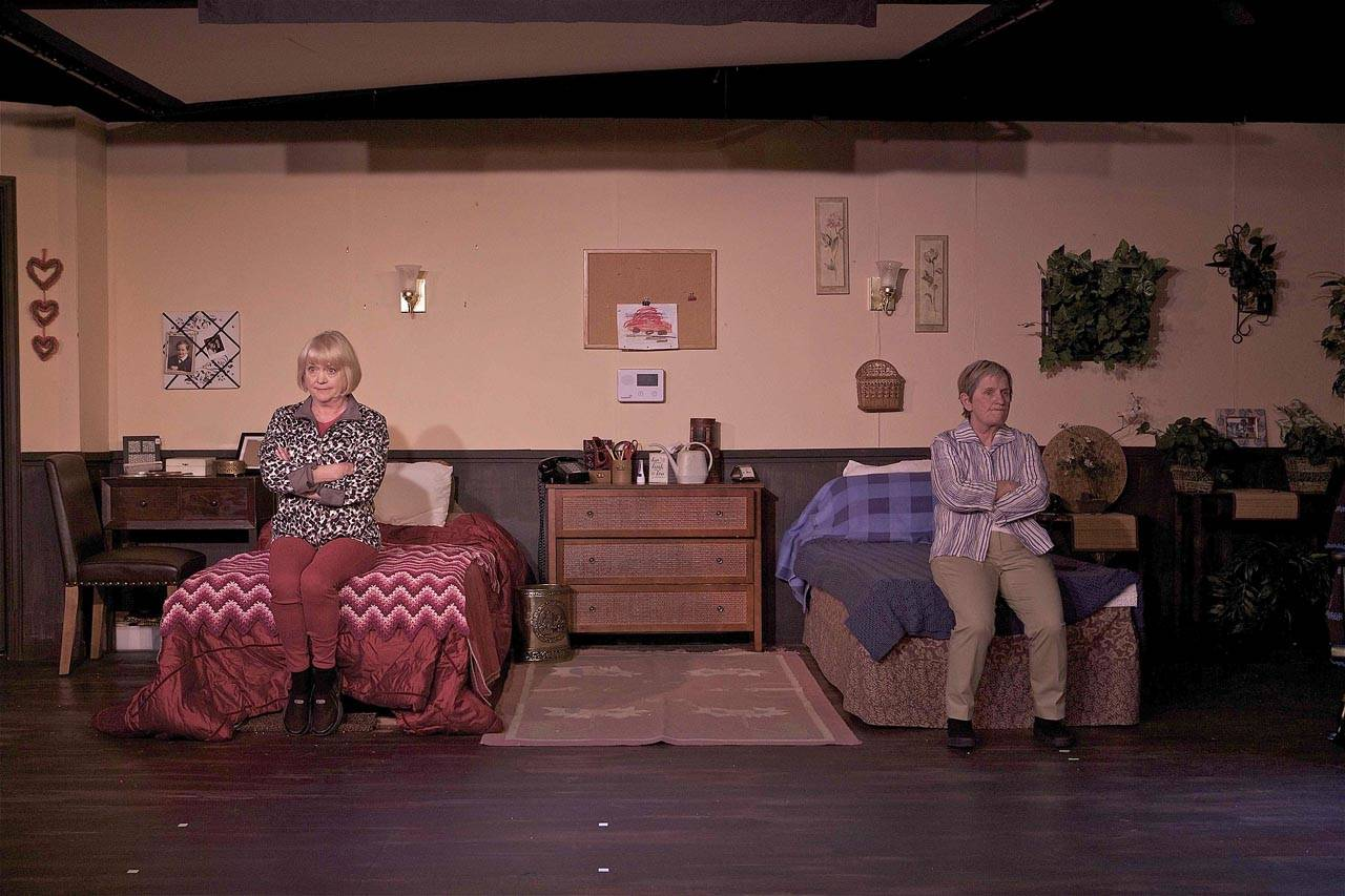 """Phoenix Theatre's """"Ripchord"""" is about two women who shouldn't be roommates but are forced by circumstance to be so anyhow. Melanie Calderwood, right, plays the role of Abby and Susan Connors, left, plays the role of Marilyn. (Jim Sipes)"""