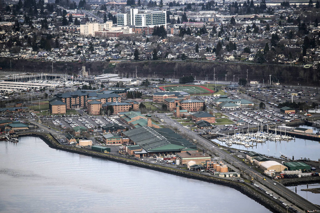 Naval Station Everett on Jan. 15, 2019. (Andy Bronson / Herald file)