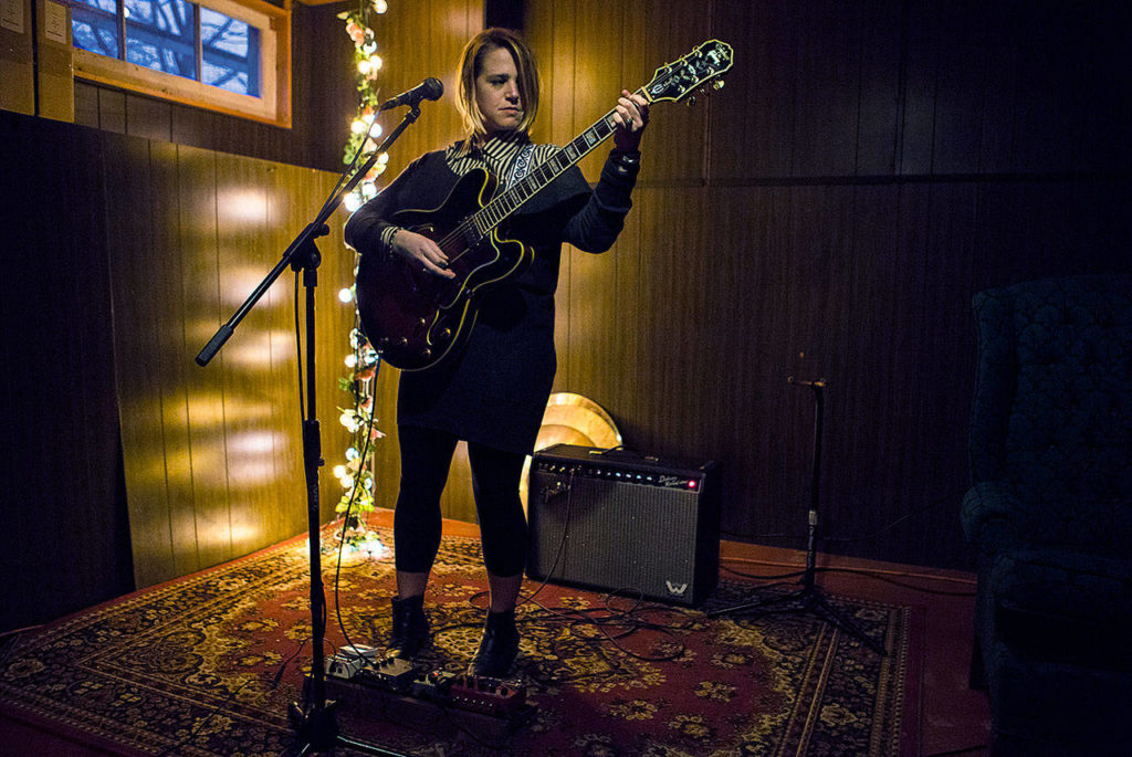 This spring, Everett musician Sarah Feinberg will release her first solo work. (Olivia Vanni/The Herald)