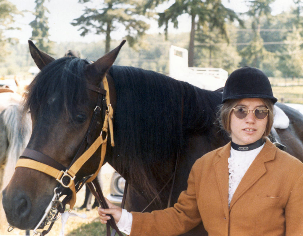 Jody Loomis is pictured with her horse in 1972. (Snohomish County Sheriff's Office)