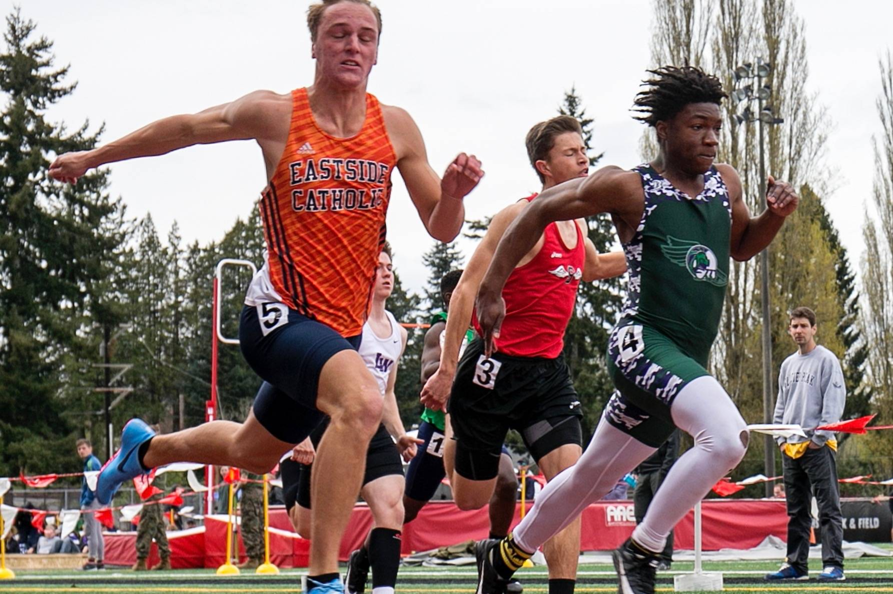 More than 100 teams are expected at Snohomish High School for Saturday's Eason Invitational, which is annually one of the state's premier high school track and field meets. (Kevin Clark / The Daily Herald)