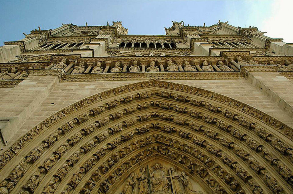 This detail shows the intricate artistry that went into the construction of Notre Dame Cathedral. Monday's fire left much of the Paris landmark intact. (Photo Jim Arrabito)