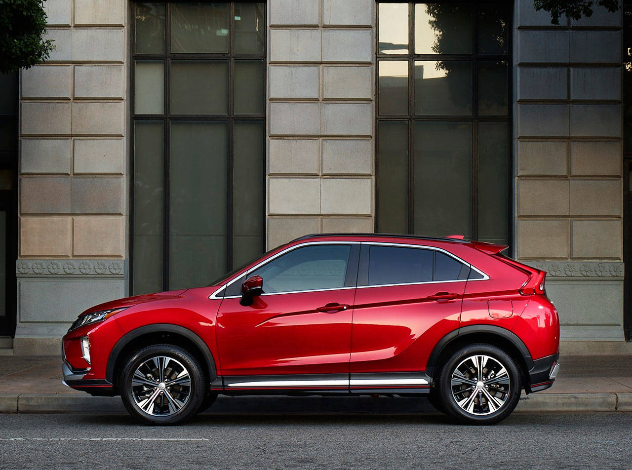 The highly styled 2019 Mitsubishi Eclipse Cross is a five-passenger compact SUV with a turbocharged four-cylinder engine and continuously variable automatic transmission. (Manufacturer photo)