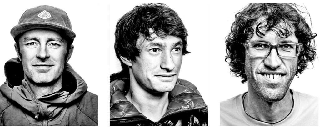 From left: Jess Roskelley, David Lama and Hansjörg Auer, who died in an avalanche in Alberta. (The North Face)