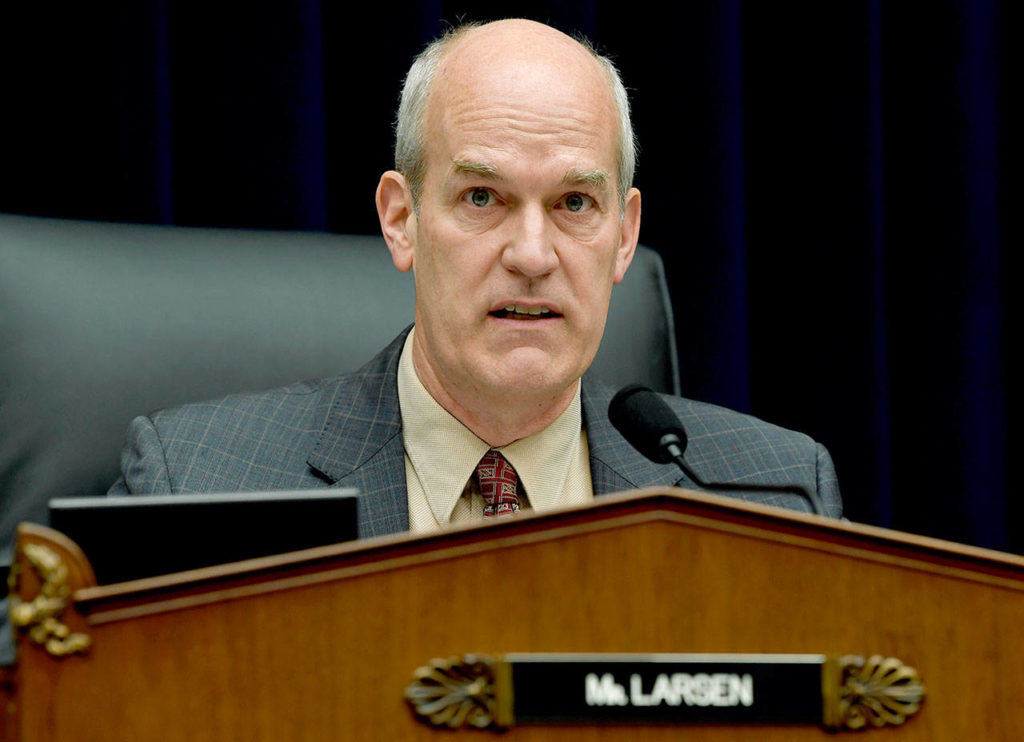 House Transportation Subcommittee Chairman Rep. Rick Larsen, D-Everett, speaks during a hearing on Capitol Hill in Washington on Wednesday.(AP Photo/Susan Walsh)