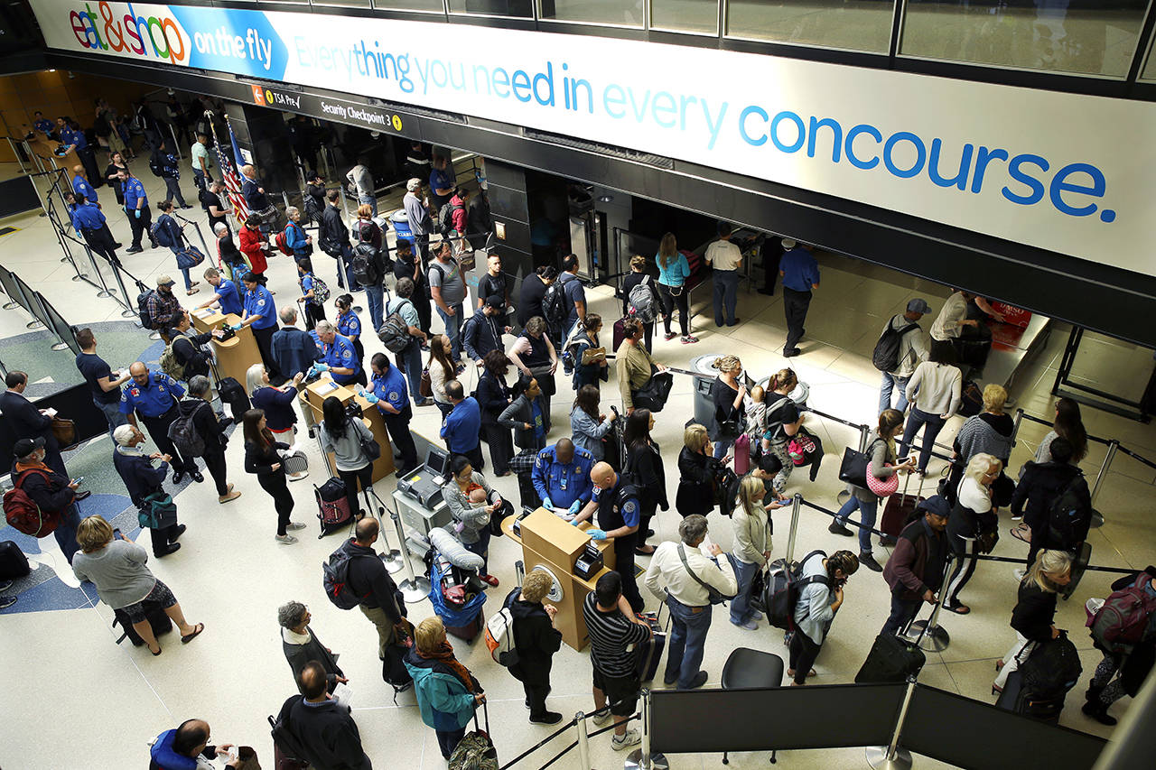 All five people with confirmed cases of measles in the state spent time at Sea-Tac Airport during their likely time of exposure or infectiousness. (AP Photo / Ted S. Warren, file)