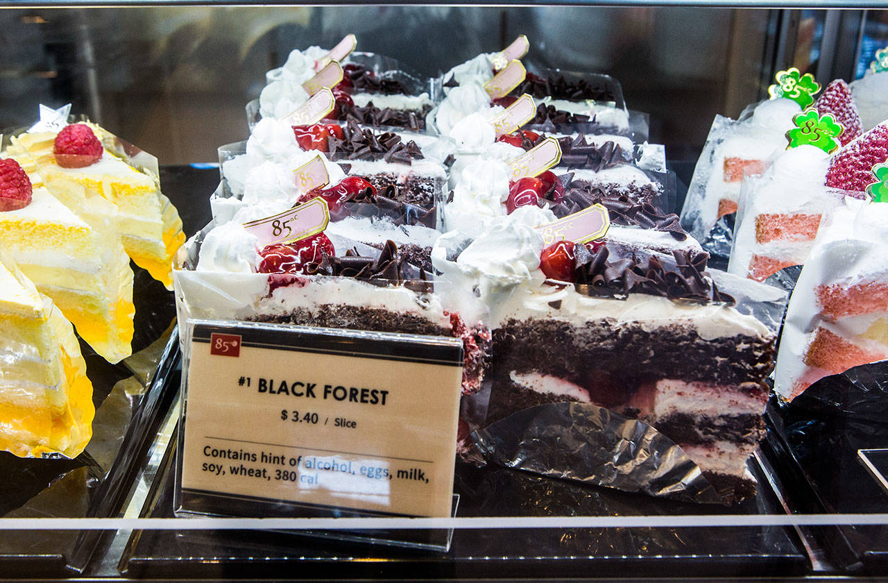 You can purchase cake by the slice at 85°C Bakery Cafe. (Olivia Vanni / The Herald)
