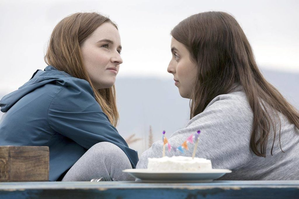 "Kaitlyn Dever (left) plays Amy, a reserved lesbian, and Beanie Feldstein is Molly, a bossypants who has a crush on a guy who's wrong for her, in ""Booksmart."" (Annapurna Pictures)"