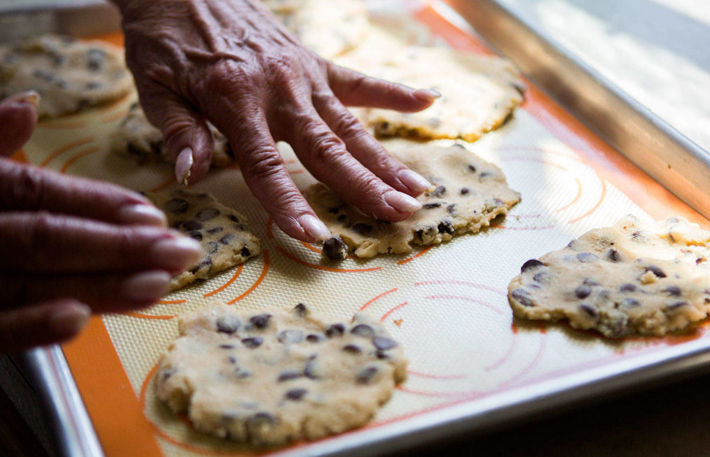 The Utsalady Ladies Aid Signature Cookies are made with oatmeal, coconut and cranberries. (Olivia Vanni / The Herald)