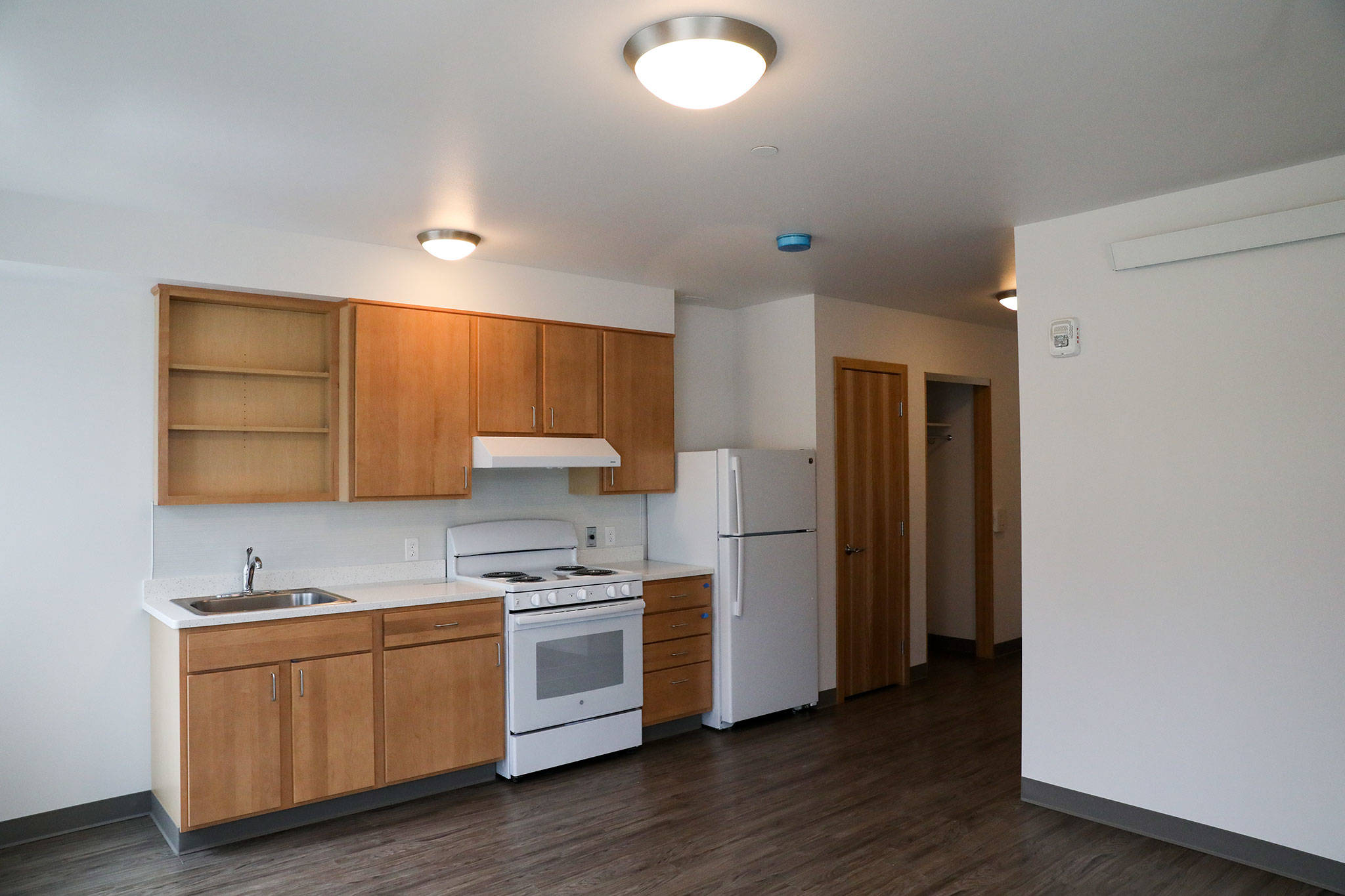 Clare's Place will have 10 one-bedroom apartments and 55 studio units, each with its own bathroom and kitchen. (Lizz Giordano / The Herald)