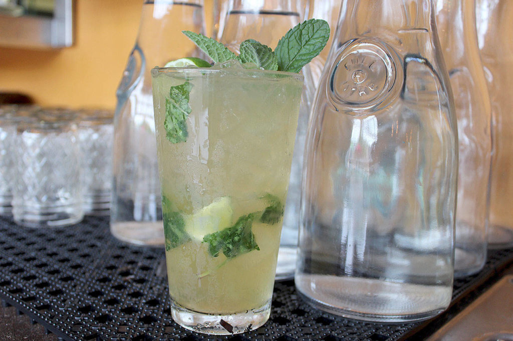 This refreshing ginger mojito from Porter's Public House is made with ginger beer and ginger liqueur. (Patricia Guthrie / Whidbey News Group)