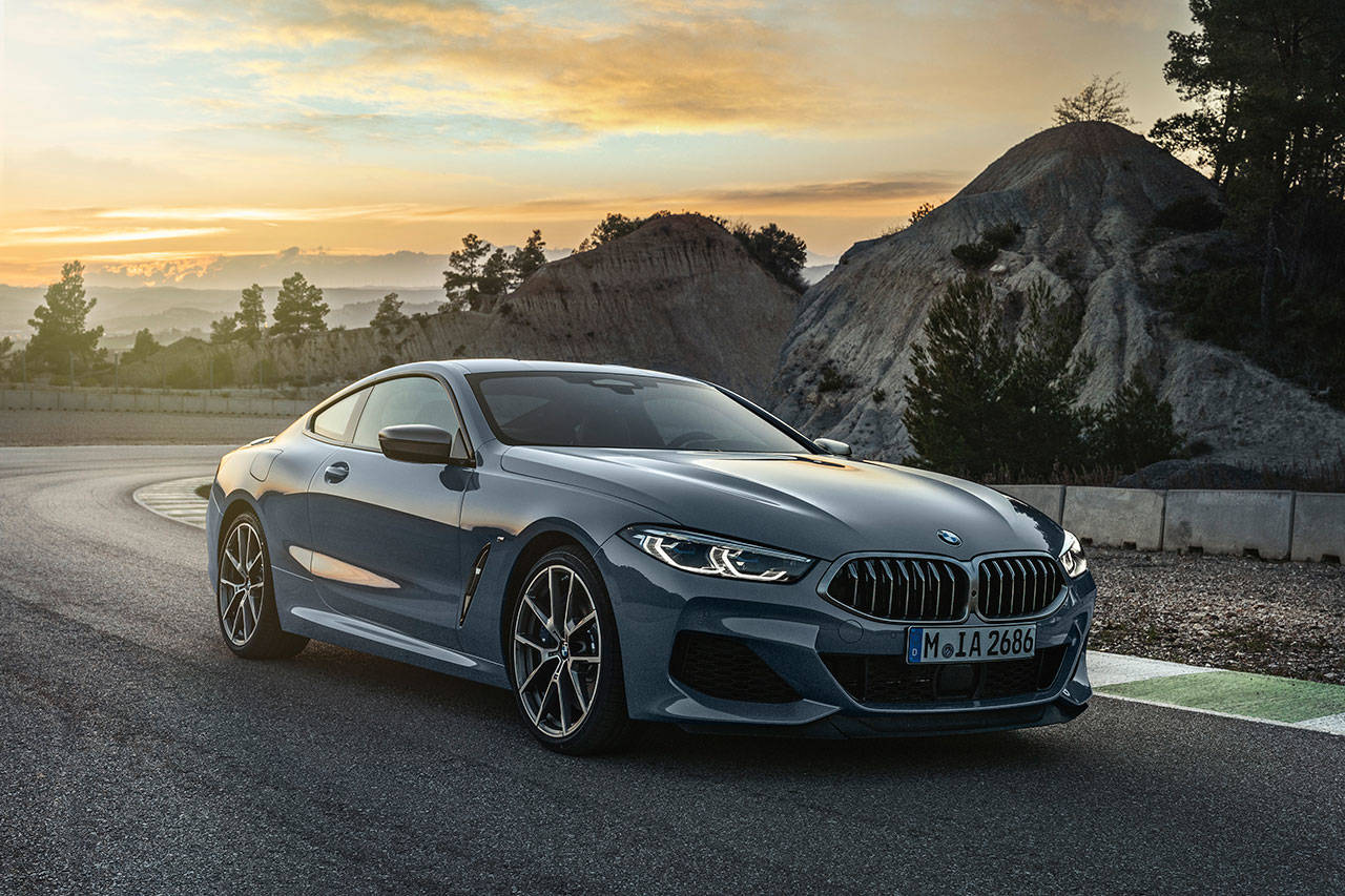 The 2019 BMW M850i xDrive has a twin-turbo 4.0-liter V8 engine producing 523 horsepower. (Manufacturer photo)
