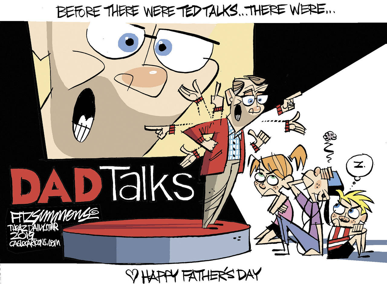 Editorial cartoons for Sunday, June 16, Father's Day