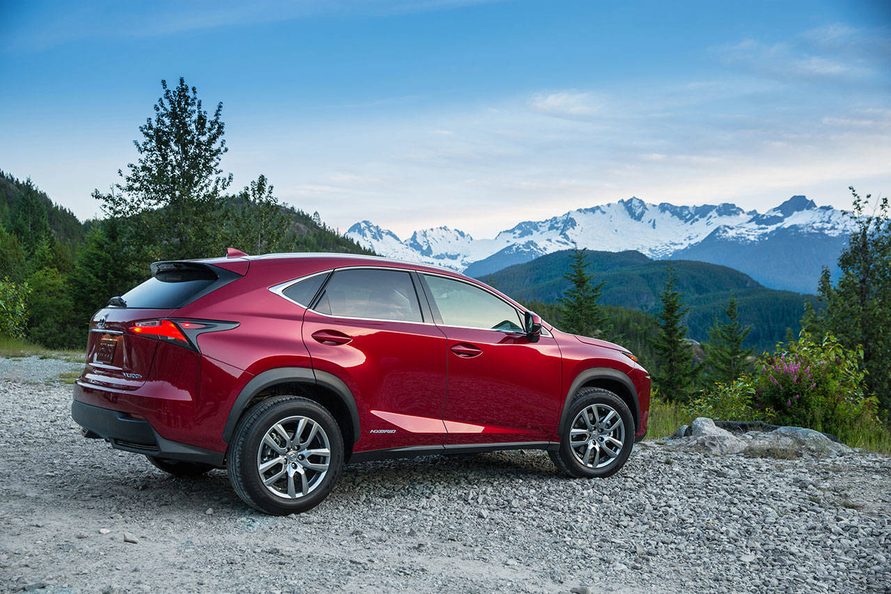 The 2019 Lexus NX 300h premium compact SUV has an EPA rating of 31 mpg for combined city and highway driving. (Manufacturer photo)