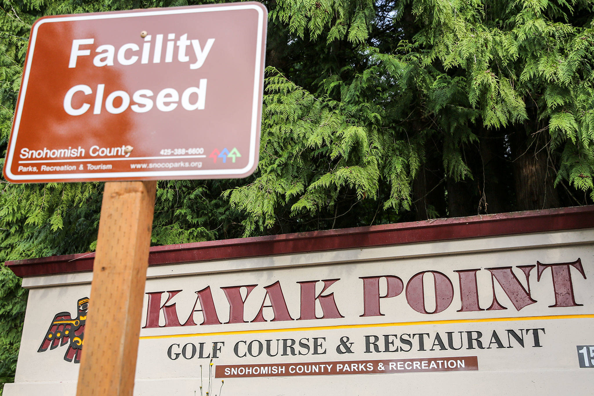 Kayak Point Golf Course in Stanwood remains closed. Snohomish County is taking proposals about other possible uses for the property. (Kevin Clark / The Herald)