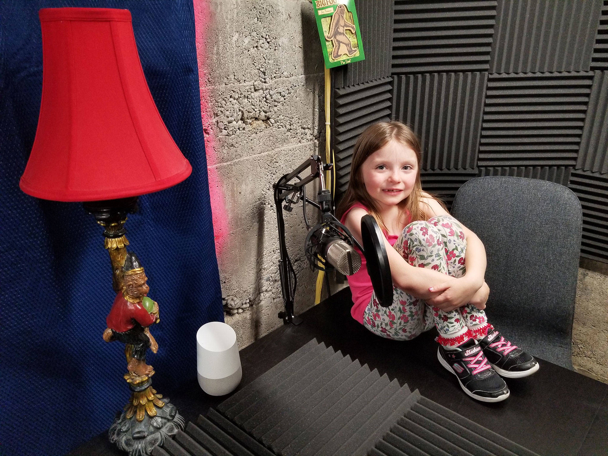 Maezie Ellis, 7, helps with the podcasts. (Submitted photo)