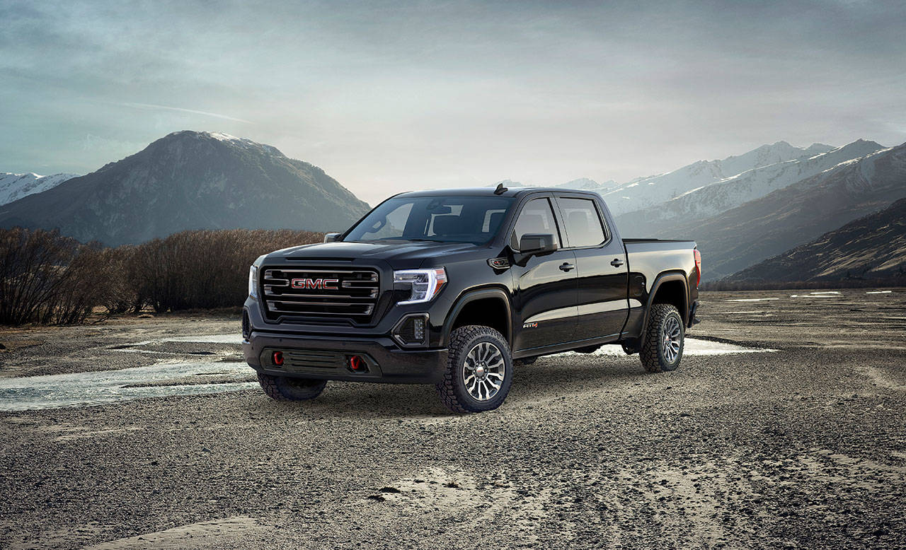 The AT4 version of the 2019 GMC Sierra 1500 is a new trim level that combines the Denali's premium features with off-road capability. (Manufacturer photo)