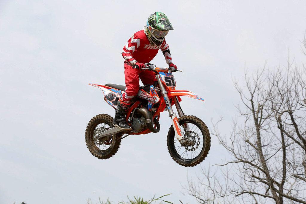 "Jadyn ""Tank"" Serles of Granite Falls competes in a motocross event. Serles, 13, will travel to Tennessee for the 2019 Rocky Mountain ATV/MC AMA Amateur National Motocross Championship this week. (Photo provided by Serles family)"