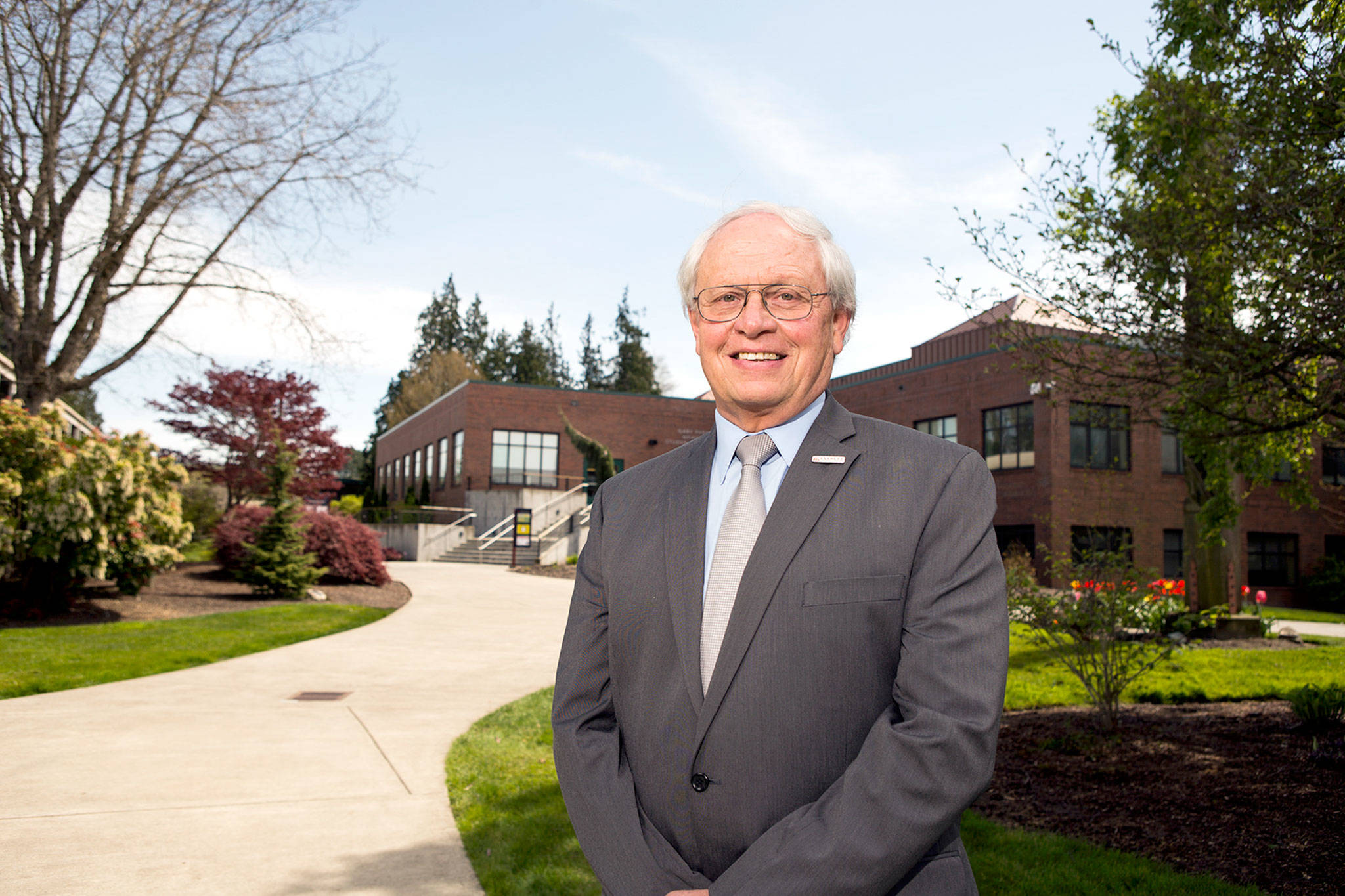 Former Everett Community College President David Beyer has received the Pacific Region CEO award from the Association of Community College Trustees. He was president of EvCC for 13 years before retiring in June. (Andy Bronson / Herald file)