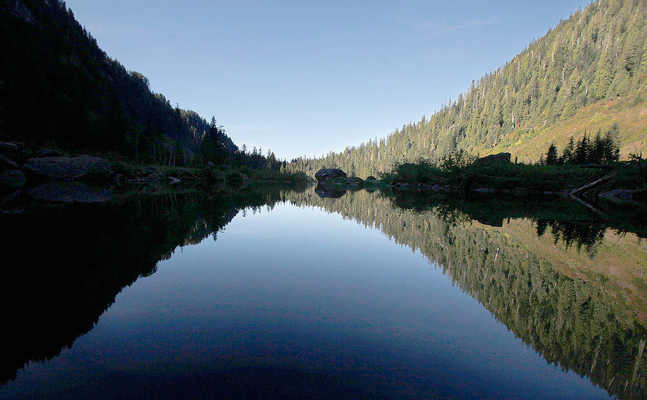 Heather Lake is one of several popular hikes in the Mount Pilchuck area off the Mountain Loop Highway. (Joe Dyer / Herald file)