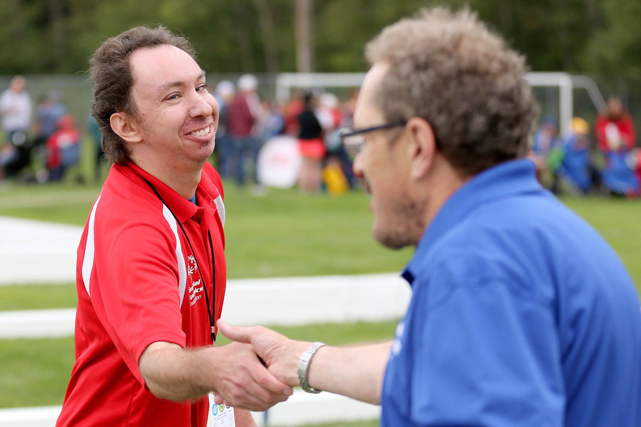Scenes from the Bocce tournament during the Special Olympics Washington Summer State Games Saturday morning at Kasch Park in Everett on August 17, 2019. (Kevin Clark / The Herald)
