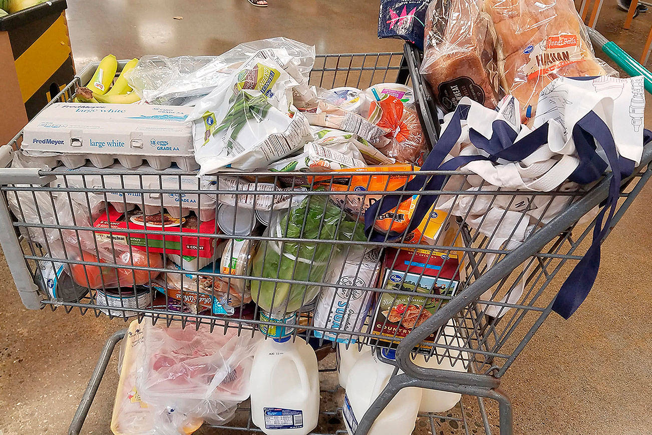 Grocery shopping with MyPlate's Thrifty Meal Plan in mind