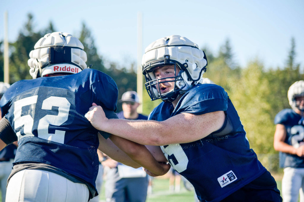 Tony McDaniel (right) and Glacier Peak look to continue their success after last year's 8-2 campaign. (Katie Webber / The Herald)