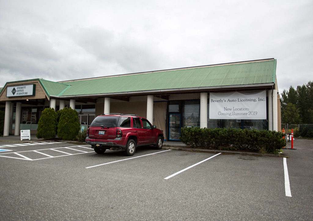 The new location of Beverly's Auto Licensing is across the parking lot in a space four times the size. (Olivia Vanni / The Herald)