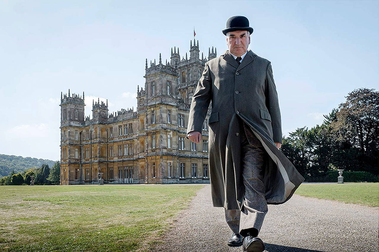 "The King and Queen are coming, and Carson the butler (Jim Carter) has his game face on in ""Downton Abbey."" (Focus Features)"