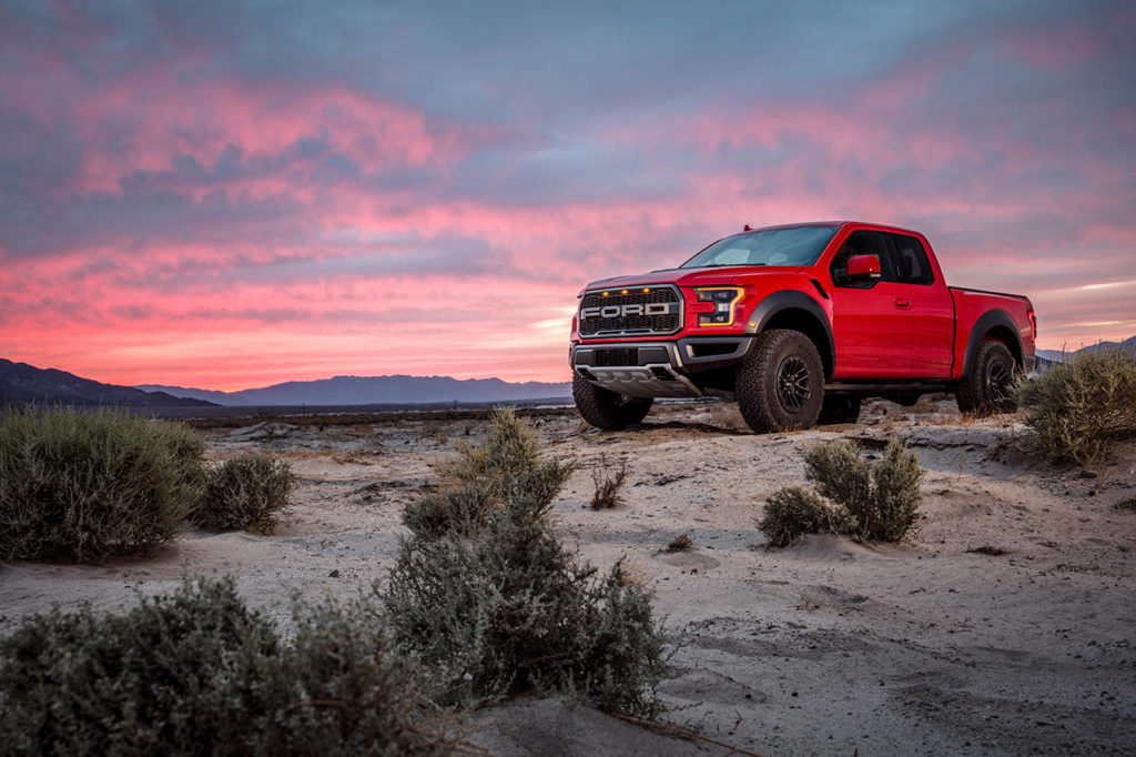 The 2019 Ford F-150 Raptor is powered by a 450-horsepower twin-turbo V6 engine paired with a 10-speed automatic transmission. (Manufacturer photo)