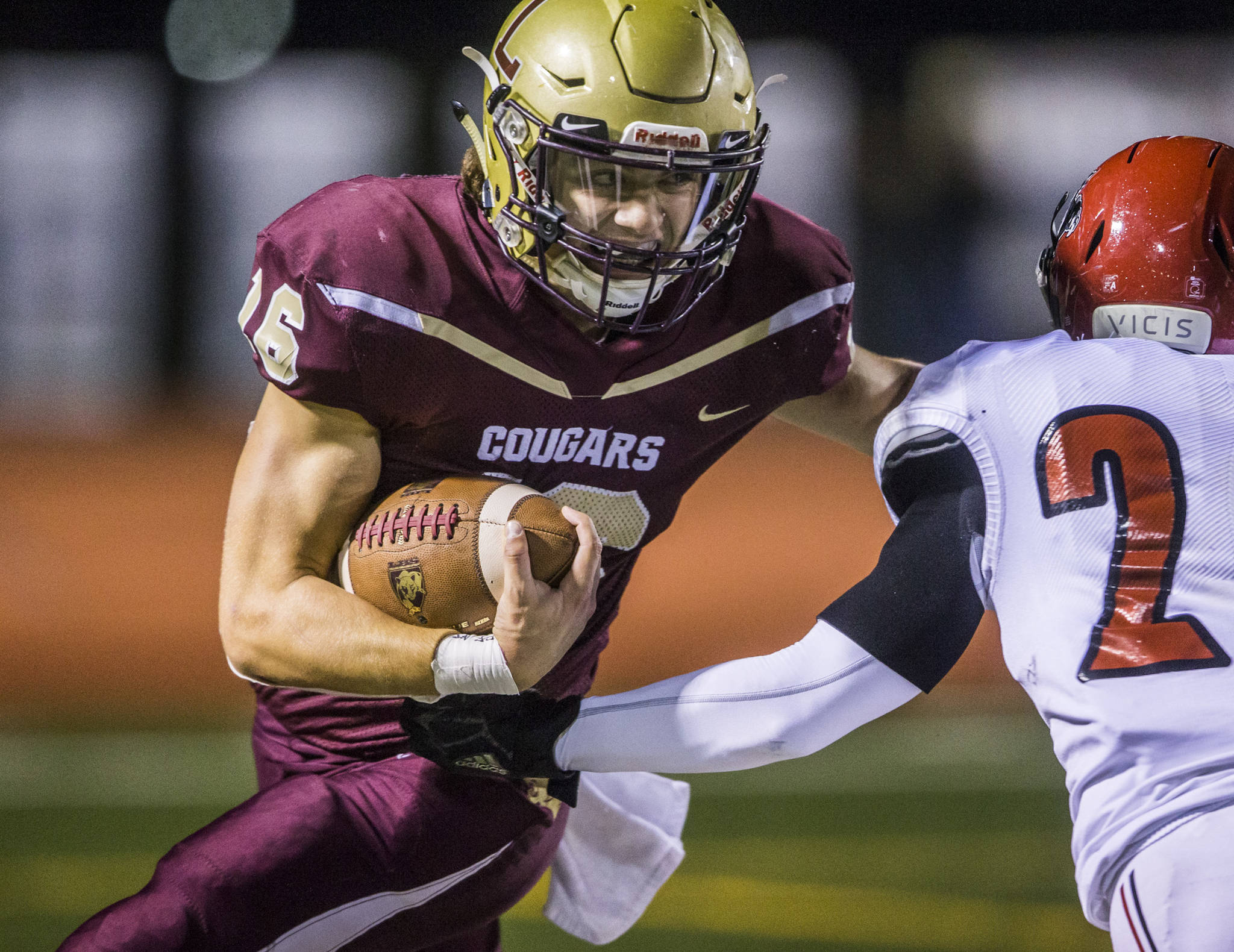 Jared Taylor accounted for five touchdowns — three rushing and two passing — to lead Lakewood past Archbishop Murphy. (Olivia Vanni / The Herald)