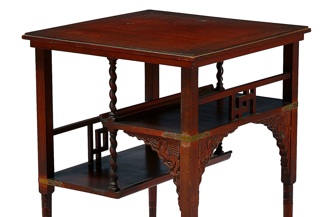 Anglo-Japanese style table not a favorite among cabinetmakers