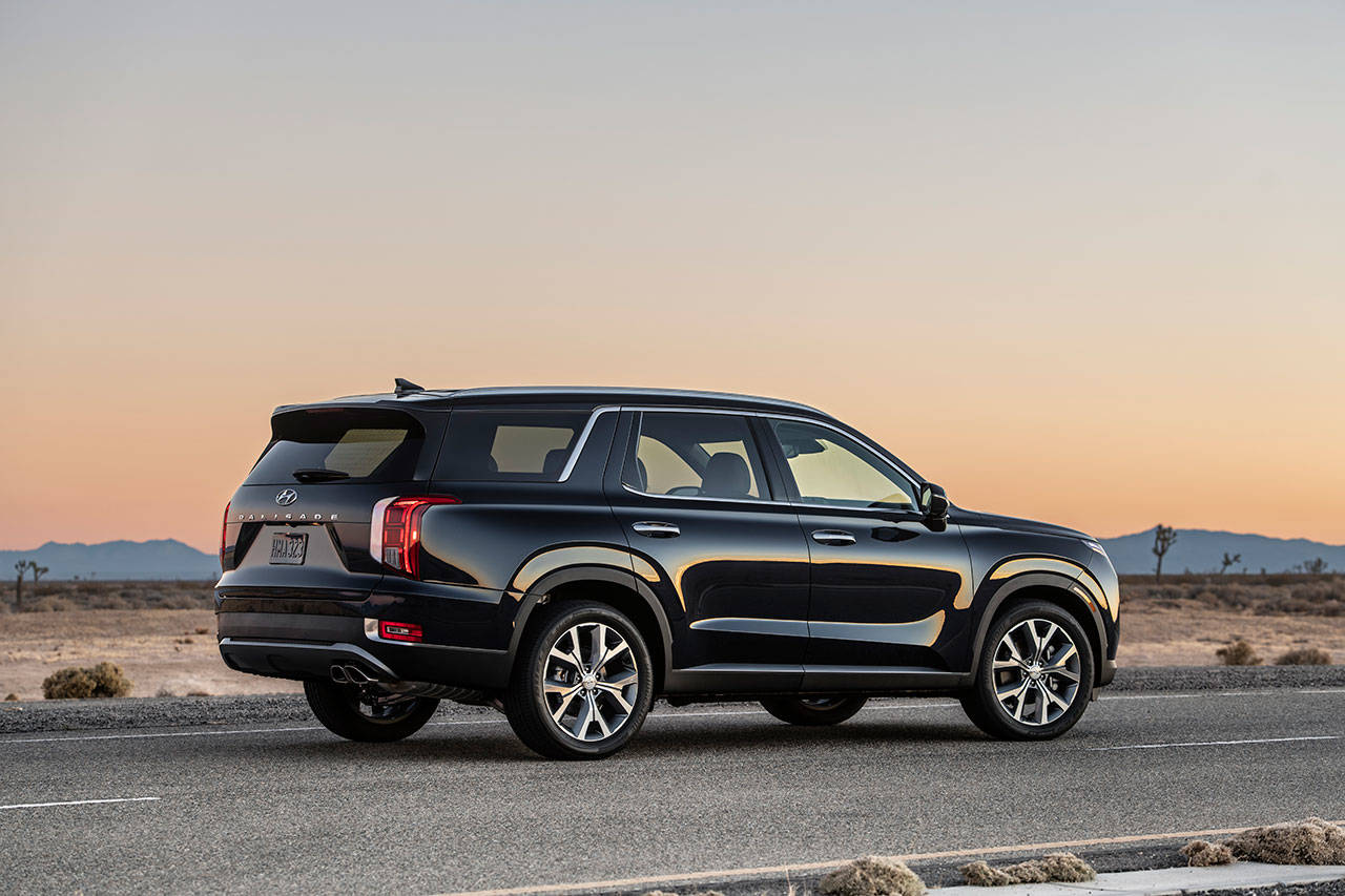 The 2020 Hyundai Palisade is powered by a 291-horsepower V6 engine paired with an eight-speed automatic transmission on all three trim levels: SE, SEL, and Limited. (Manufacturer photo)