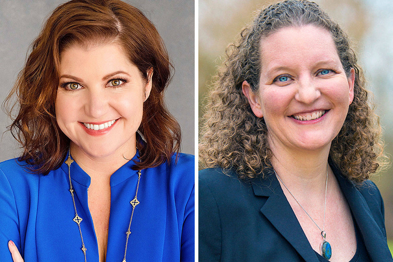 Snohomish County Council, Position 2, candidates Anna Rohrbough (left) and Megan Dunn.