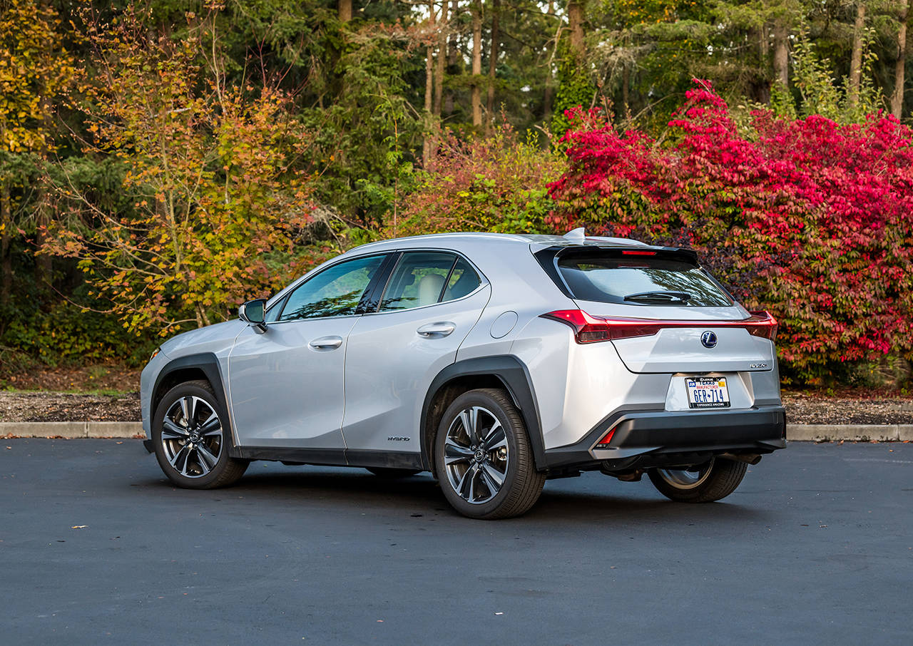 The 2019 Lexus UX 200 has a 169-horsepower four-cylinder engine combined with a continuously variable automatic transmission (CVT). (Manufacturer photo)