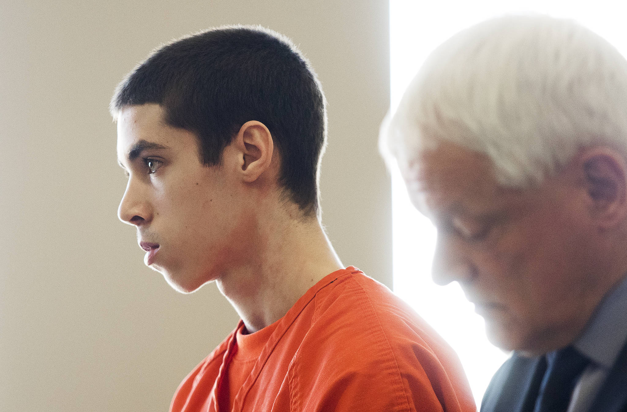 Timothy Puller is sentenced for the death of Gala Zuehlke, in the Snohomish County Courthouse on Thursday in Everett. (Andy Bronson / The Herald)