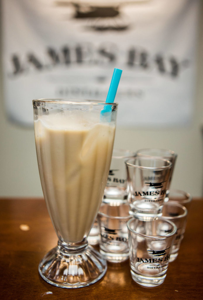 James Bay Distiller's Whisky Rootbeer Float made with James Bay Galloping Goose Canadian Whisky, rootbeer, light cream and vanilla ice cream. (Olivia Vanni / The Herald)
