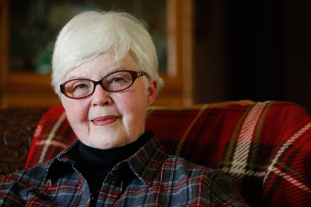 "Darlene Harrington served with the U.S. Army Nurse Corps in Vietnam in1967-68. The 1963 graduate of Snohomish High School, then Darlene Wolfe, later served in the Army Reserve. ""The memories are vivid,"" she said. (Dan Bates / The Herald)"