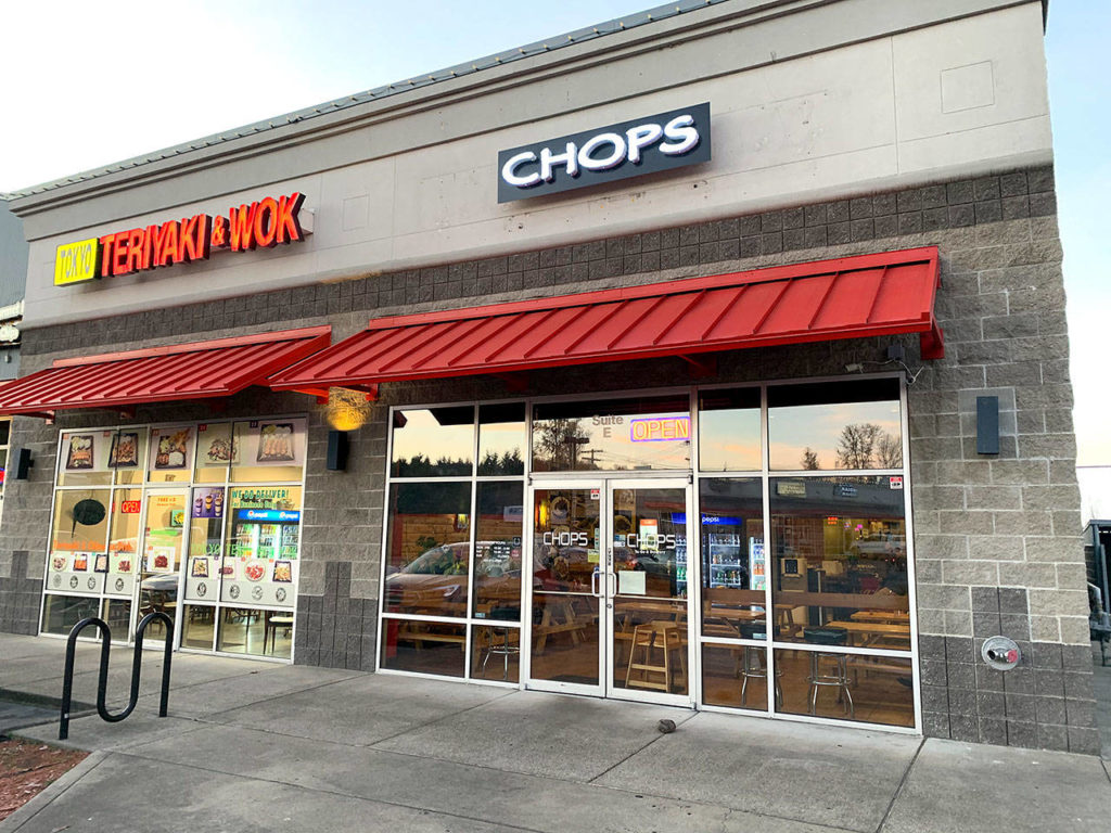 Chop Express, also known as Chops, serves a variety of Asian cuisine. (Evan Thompson / The Herald)