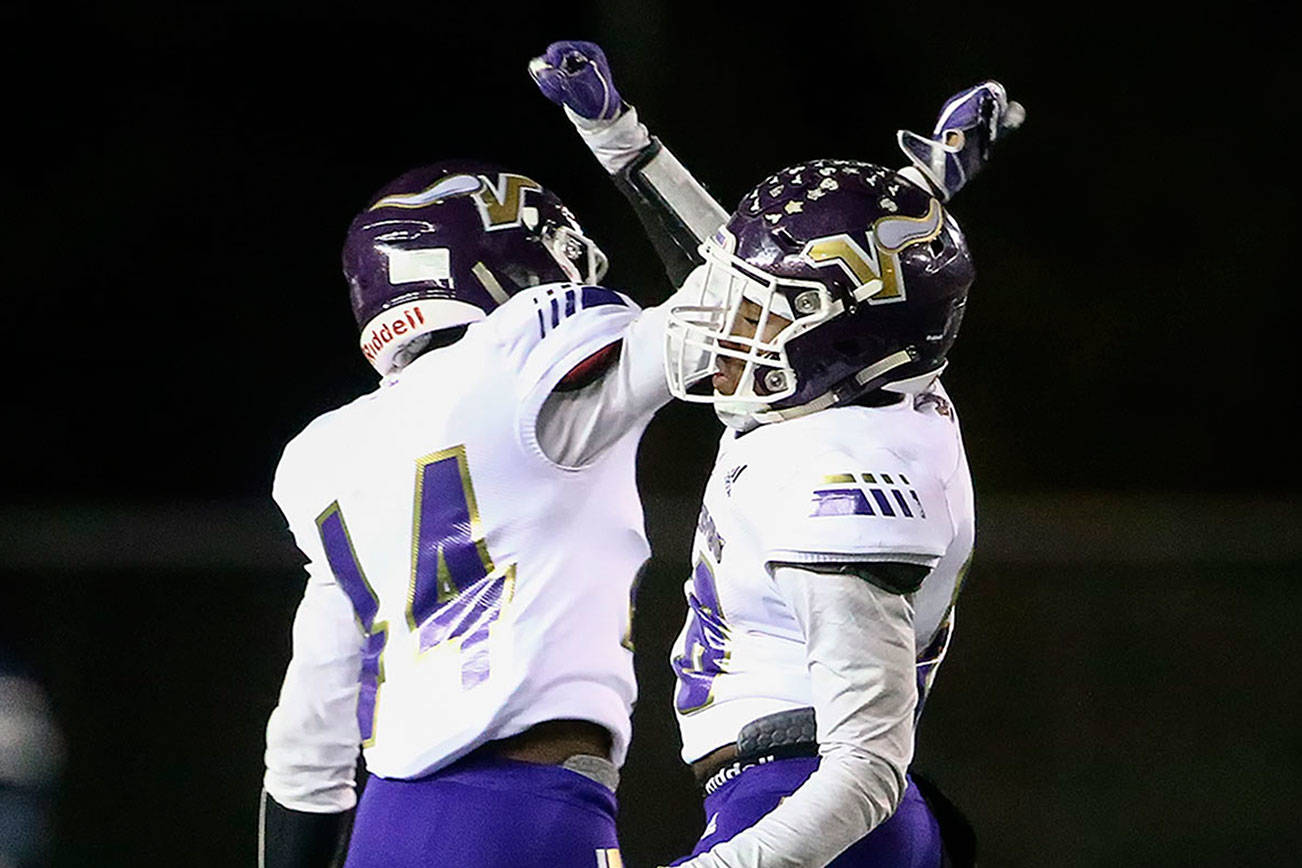 Lake Stevens is one of four Snohomish County high schools that qualified for the football state tournaments, which begin this weekend. (Kevin Clark / The Herald)